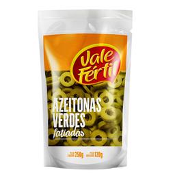 Azeitona Verde Sem Caroço Fatiada Vale Fértil Sachê 120 g