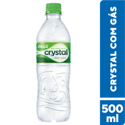 Água Crystal - Com Gás - 500  mL-Cód. 10813