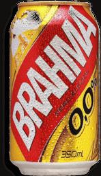 Cerv.Brahma Lata 0,0% Sem Álcool - 350mL- Cód. 10864