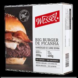 Hambúrguer De Picanha Wessel - 360 g- Cód. 10942