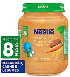 Papinha Nestle De Carne Cq Macarrão E Legumes 170 g - Cód. 10999