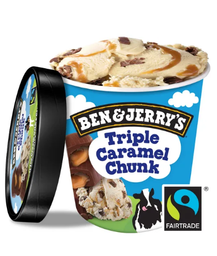 Sorvete Ben & Jerry's Triple Caramel Chunk 458 mL - Cód. 11045