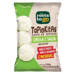 Salgadinho Chips de Tapioca Sabor Cebola e Salsa Tapiokitas 100g