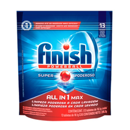 Tabletes Detergentes para Lava Louças Finish Powerball com 56