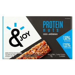 Barra de Cereais com Coco e Amêndoas Protein Nuts Agtal 70g c/2U