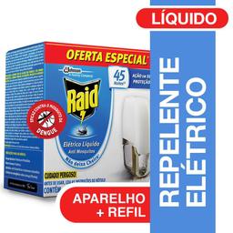 Repelente Elétrico Líquido Anti Mosquitos Aparelho +Refil 32,9ml