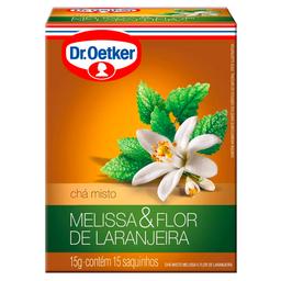 Chá de Melissa com Flor de Laranjeiras Dr. Oetker 15g c/ 15 unid