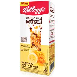 Barra de Cereal de Banana, Aveia e Mel Kellogg's 60g com 3 unid.