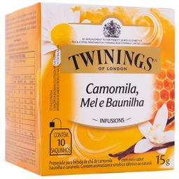 Chá Inglês de Camomila, Mel e Baunilha Twinings 15g com 10 unid.
