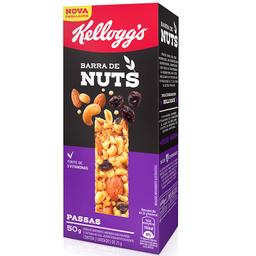 Barra de Cereais c/ Uvas Passas Kellogg's Nuts 50g c/ 2 unidades