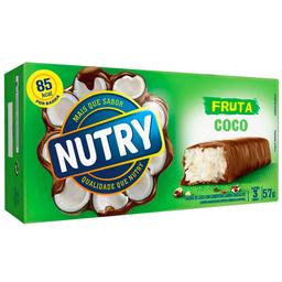Barra de Coco c/ Cobertura de Chocolate Nutry 57g com 3 unidades