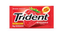 Goma de Mascar Sabor Morango Fresh Trident com 32g c/ 4 unidades
