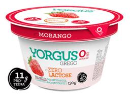 Iogurte Grego Sabor Morango 0% de Gordura s/ Lactose Yorgus 130g