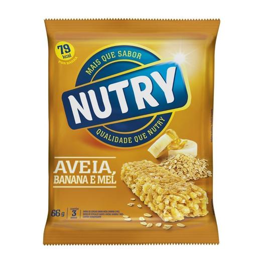 Nutry Cereal Barra Aveia Banana e Mel Light