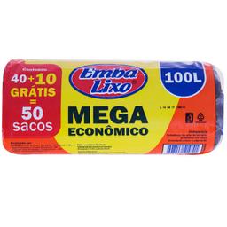 Saco De Lixo Mega Econômico Embalixo Pague 40 Leve 50 100 L