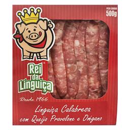 Linguiça Calabresa Recheada com Queijo Provolone e Orégano 500g