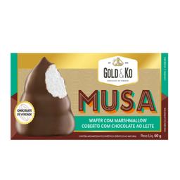 Wafercom Marshmallow Coberto com Chocolate aoLeite Musa-60g