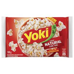 Milho de Pipoca P/ Micro-Ondas Natural c/ Sal Popcorn Yoki 100g
