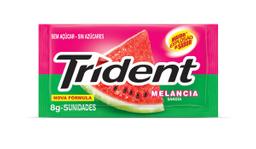 Goma de Mascar Sabor Melancia Twist Trident com 32g com 4 unid.