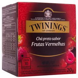 Chá Inglês Preto de Frutas Vermelhas Twinings 20g com 10 unid.