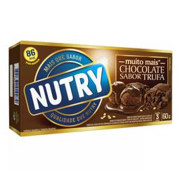 Barra de Cereais de Trufa de Chocolate Nutry 60g com 3 unidades