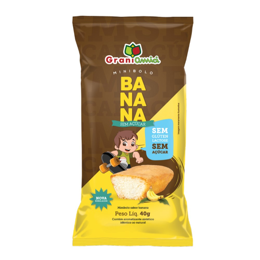 Minibolo Banana Sem Glúten Grani Amici