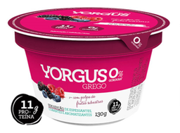 Iogurte Grego Sabor Frutas Silvestres 0% de Gordura Yorgus 130g