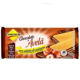 Biscoito Wafer de Chocolate com Avelã Zero Açúcar Lowçucar 115g