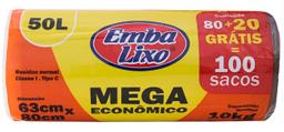 Saco De Lixo Mega Econômico Embalixo Pague 80 Leve 100 50 L