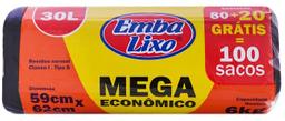 Saco Lixo Mega Econômica 30 L 80 Und