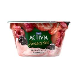 Leite Fermentado Pedaços de Frutas Silvestres Sensações - 120g
