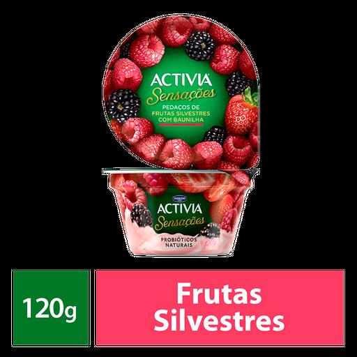 Activia Sensações Pedaços De Frutas Silvestres Com Baunilha