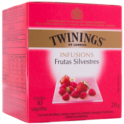 Chá Inglês Preto de Frutas Silvestres Twinings 20g c/ 10 unid.