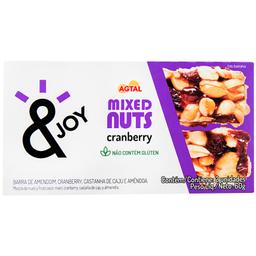Barra de Cereais Mixed Nuts Cranberry Agtal 60g com 2 unidades