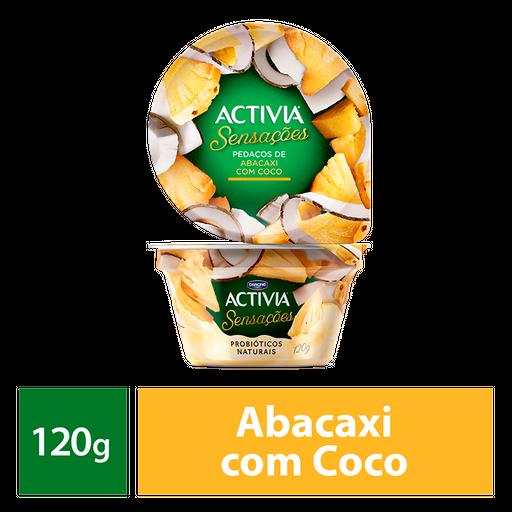 Activia Sensações Pedaços De Abacaxi Com Coco