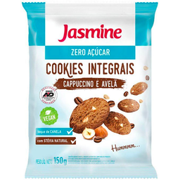 Cookies Integral Zero Sabor Cappuccino com Avelã Jasmine 150g