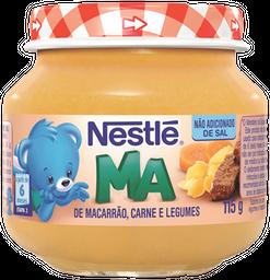 Alimento Infantil Macarrão, Carne e Legumes Nestlé Pote 115g