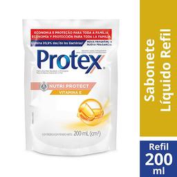 Refil Sabonete Líquido Antibacteriano Vitamina E Protex 200ml