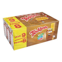 Pack Bebida Láctea UHT Chocolate Toddynho 1,8l Leve 9 Pague 25