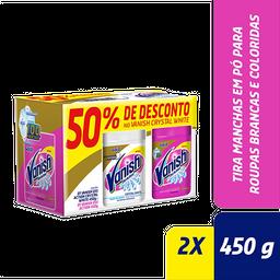 Kit Vanish Tira Manchas com 1 Pink 450g e 1 White 450g