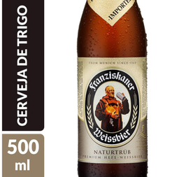 Cerveja Alemã Franziskaner Hell Hefe-Weissbier One Way 500ml