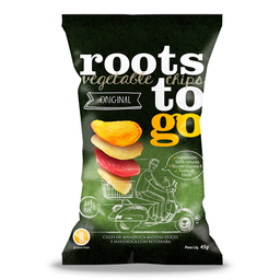 Chips Mix de Batata Doce e Mandioca Original Roots To Go 45g