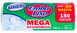 Saco De Lixo para Banheiro Mega Econômico 150 Und