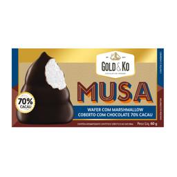 Wafer com Marshmallow Coberto com Chocolate 70% Cacau - 60g
