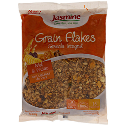 Granola Integral com Frutas e Mel Grain Flakes Jasmine 300g