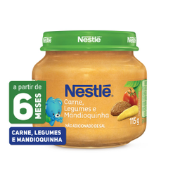 Alimento Infantil Carne, Legumes e Mandioquinha Nestlé 115g