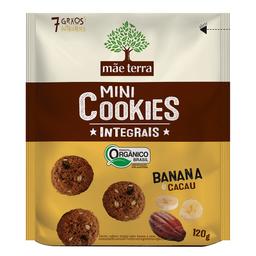Mini Cookie Orgânico Integral Banana e Cacau Mãe Terra 120g