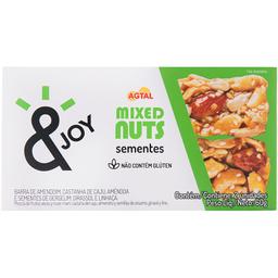 Barra de Grãos Mixed Nuts Sementes Agtal 60g com 2 unidades