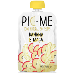 Purê de Frutas 100% Natural Sabor Banana e Maça PIC-ME 100g
