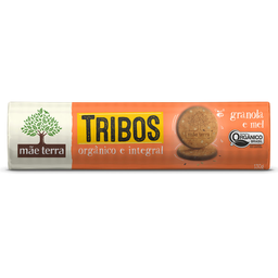 Biscoito Orgânico Sabor Granola e Mel Tribos Mãe Terra 130g